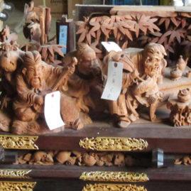 曳山壇箱彫刻